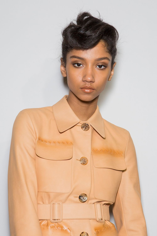 Bottega Veneta twist bangs hair trends 2018 spring summer