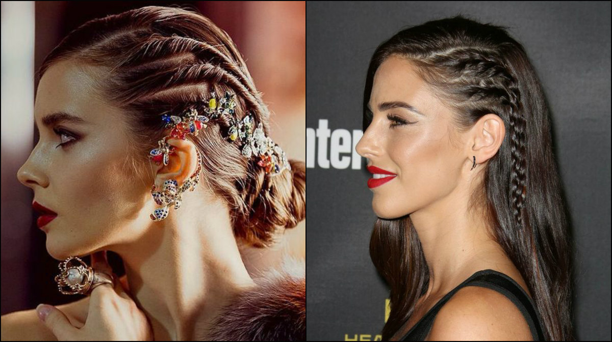 New Year Hairstyles 2018 side braids