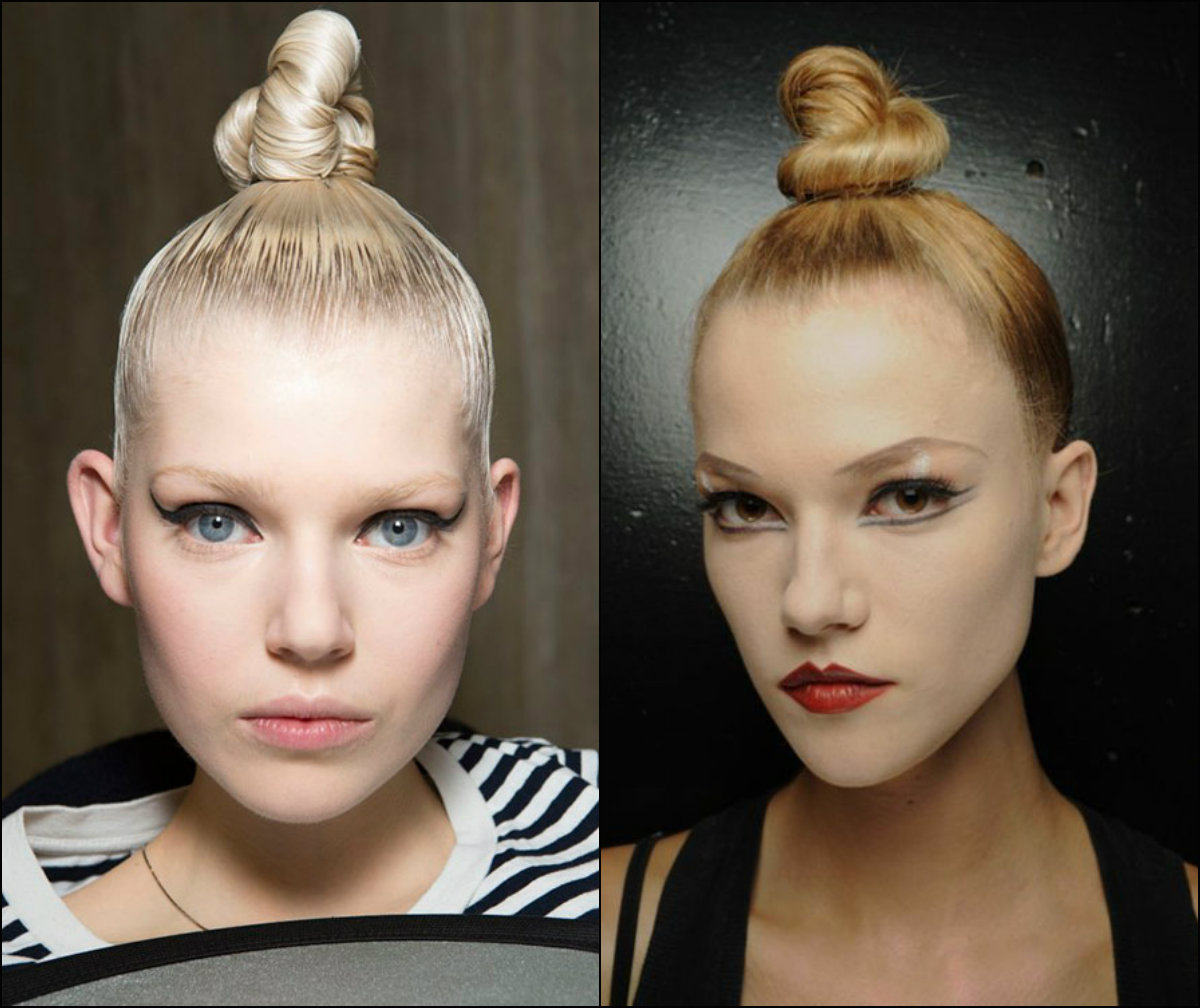 sleek top knot hairstyles 2018 new year