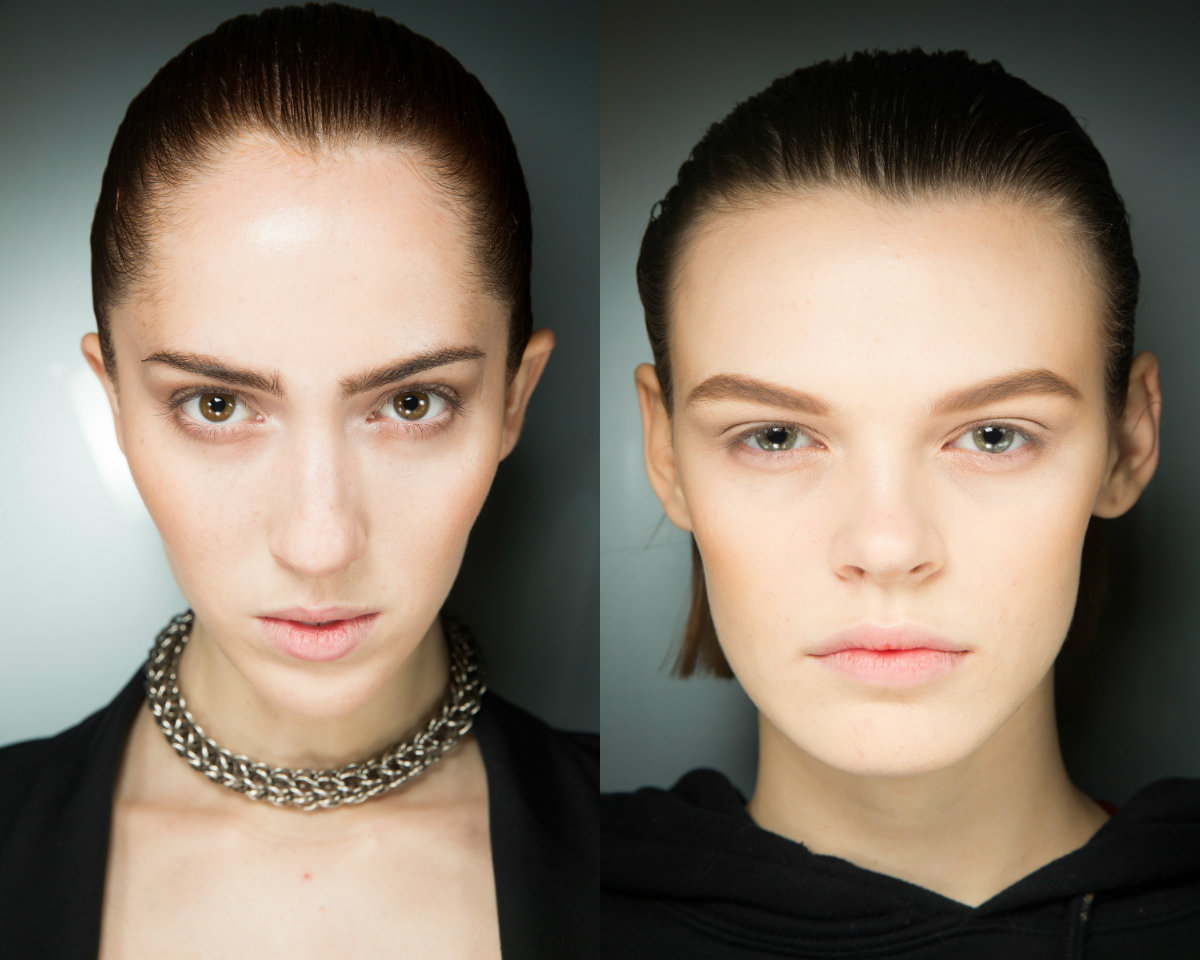 Alexander Wang slicked hair trends 2019