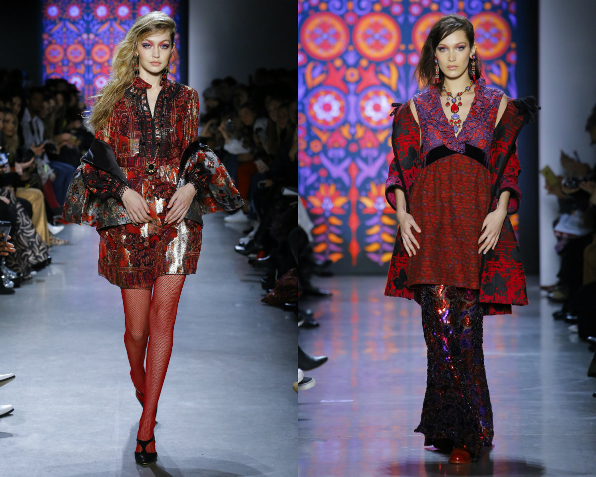 Anna Sui messy hairstyles 2019 Hadid Sisters