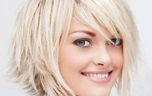 blonde choppy bob haircut