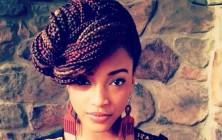 box braids updo hairstyles for black women 2014