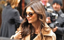 Katie Holmes hairstyles 2014: street style