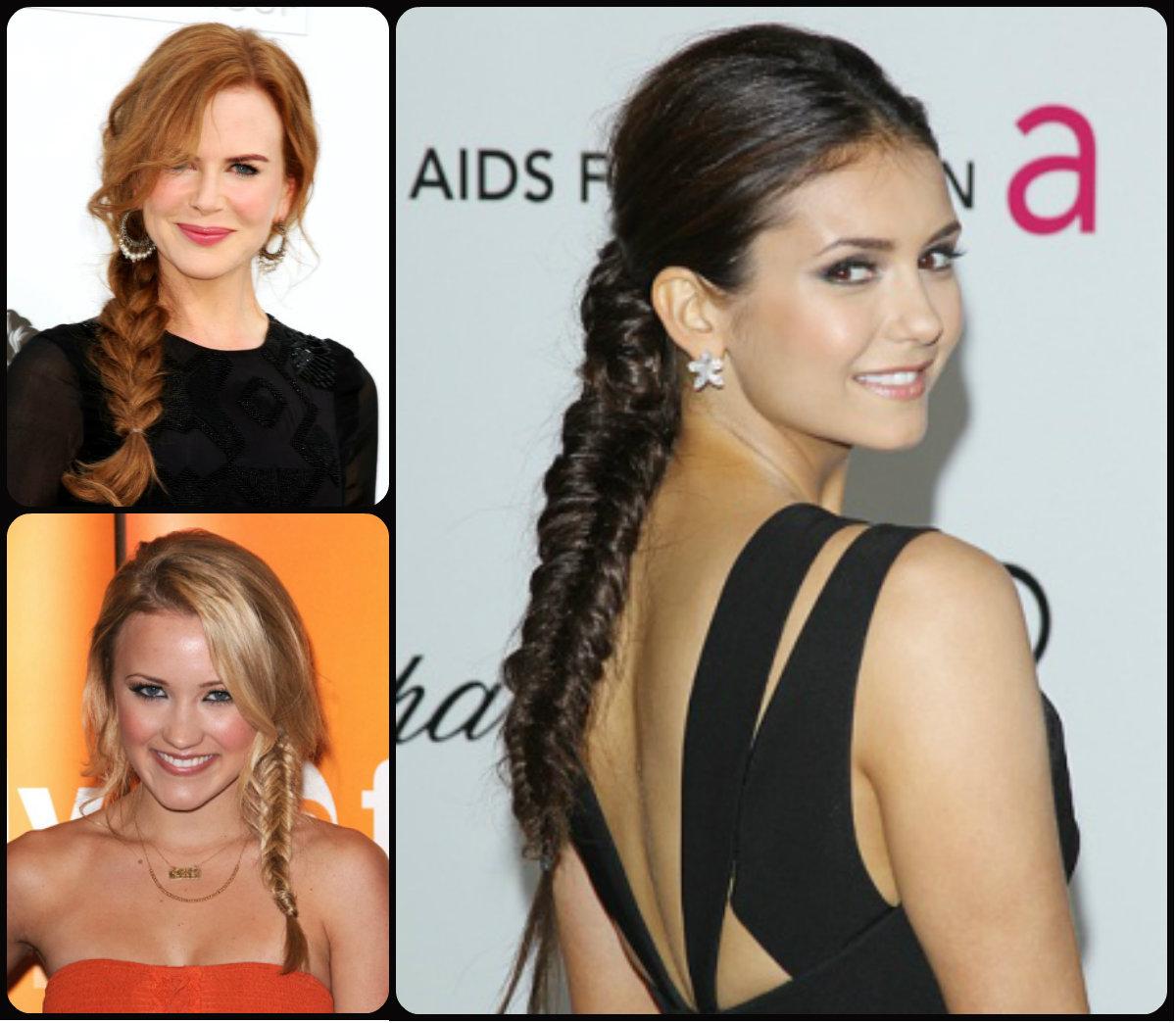 celebrity cute fishtail braids 2015 | hairstyles 2017, hair colors
