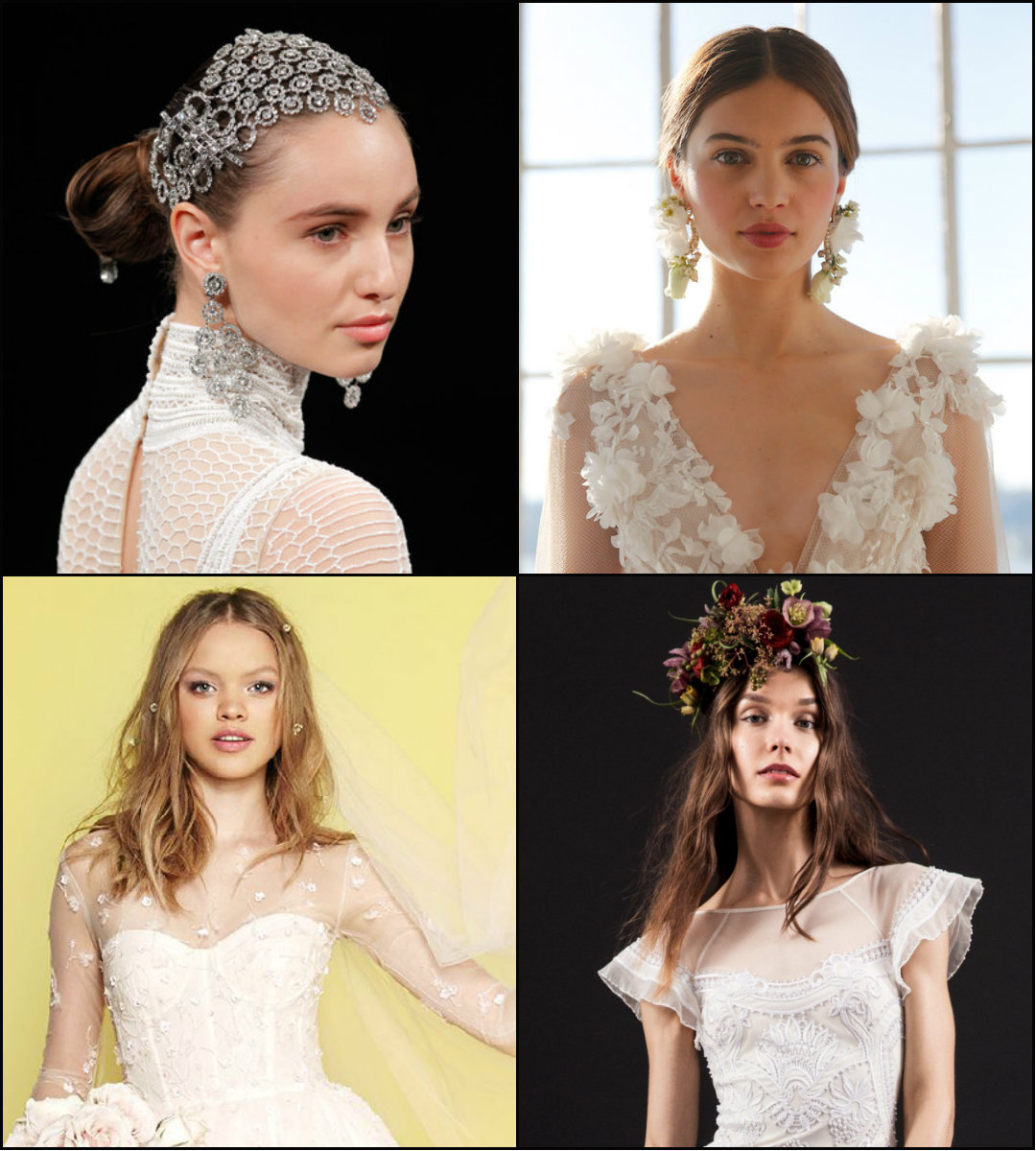 wedding hair trends from bridal spring 2017 designer collections