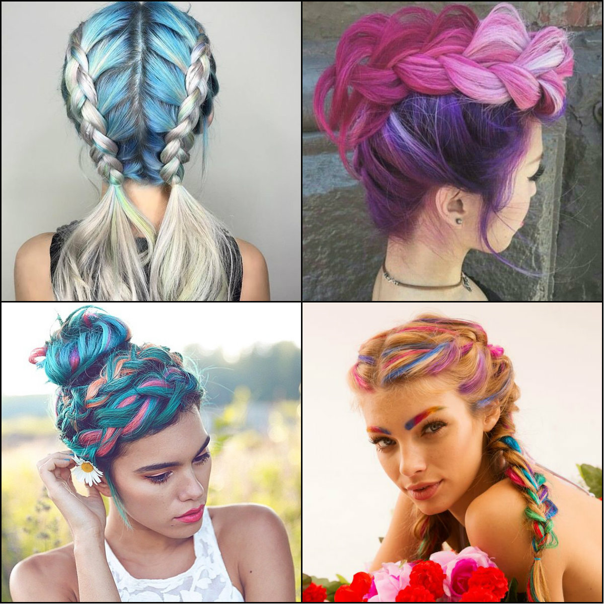 hair dye styles for black hair impressive pastel color braids hairstyles you won t miss 1107