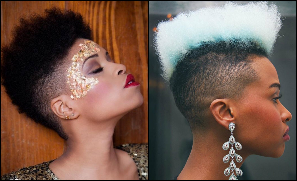 black women fade haircuts to look edgy and sexy | hairstyles 2017