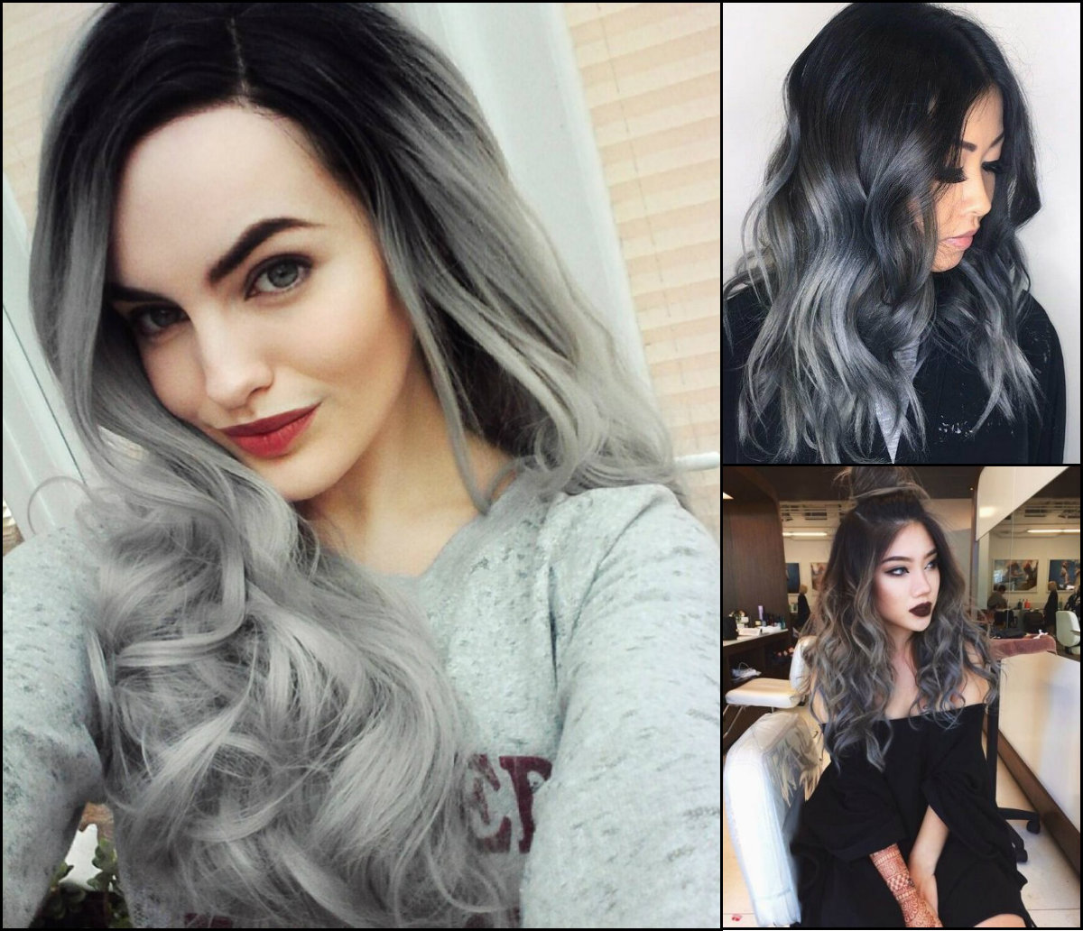popular hair colors and styles grey and black hairstyles fade haircut 5751