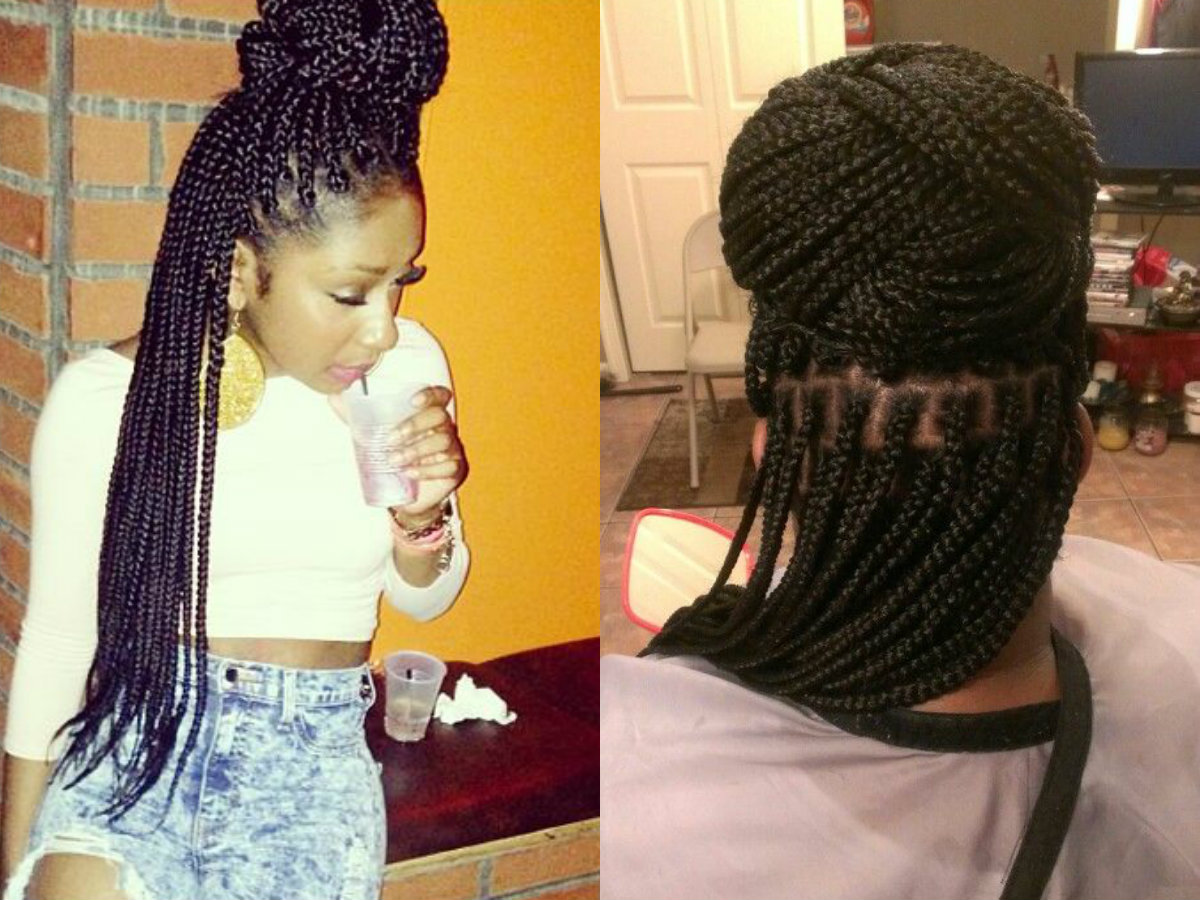 Black Hairstyles Braids In A Bun Hairstyles